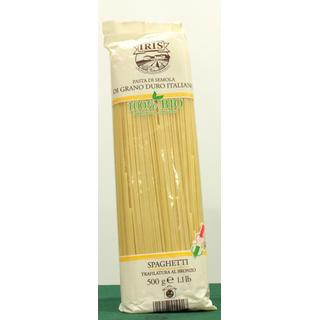 Spaghetti from semolina wheat semi-wholemeal